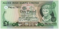 Allied Irish Banks 1 Pound,  1. 1.1982