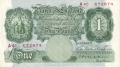 Bank Of England 1 Pound Notes Britannia 1 Pound, from 1928