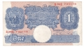 Bank Of England 1 Pound Notes Britannia 1 Pound, from 1940