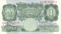 Bank Of England 1 Pound Notes Britannia 1 Pound, from 1948