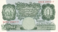 Bank Of England 1 Pound Notes Britannia 1 Pound, from 1950