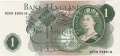 Bank Of England 1 Pound Notes Portrait 1 Pound, M04N