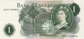Bank Of England 1 Pound Notes Portrait 1 Pound, B--Y