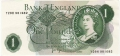 Bank Of England 1 Pound Notes Portrait 1 Pound, W66D