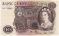 Bank Of England 10 Pound Notes 10 Pounds, from 1967