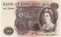 Bank Of England 10 Pound Notes 10 Pounds, from 1971