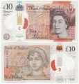Bank Of England 10 Pound Notes 10 Pounds, from Sept 2017