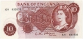 Bank Of England 10 Shilling Notes Portrait 10 Shillings, from 1961