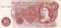 Bank Of England 10 Shilling Notes Portrait 10 Shillings, from 1963