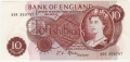 Bank Of England 10 Shilling Notes Portrait 10 Shillings, from 1967