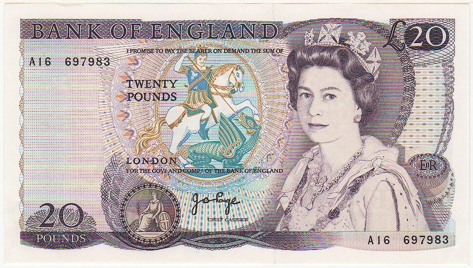 Geldscheine England