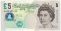 Bank Of England 5 Pound Notes From 1980 5 Pounds, from 2002