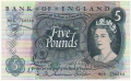 Bank Of England 5 Pound Notes To 1970 5 Pounds, from 1963