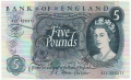 Bank Of England 5 Pound Notes To 1979 5 Pounds , from 1967