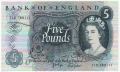 Bank Of England 5 Pound Notes To 1970 5 Pounds, from 1971