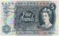 Bank Of England 5 Pound Notes To 1979 5 Pounds, from 1963