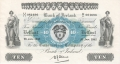 Bank Of Ireland 1 5 And 10 Pounds 10 Pounds, 26. 1.1942
