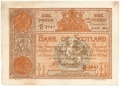 Bank Of Scotland 1 Pound Notes 1 Pound, 29. 4.1915