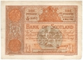 Bank Of Scotland 1 Pound Notes 1 Pound,  8. 3.1926