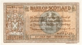 Bank Of Scotland 1 Pound Notes 1 Pound, 20. 4.1939