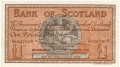 Bank Of Scotland 1 Pound Notes 1 Pound,  4. 1.1945