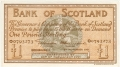 Bank Of Scotland 1 Pound Notes 1 Pound,  4.10.1945