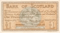 Bank Of Scotland 1 Pound Notes 1 Pound,  9.11.1953