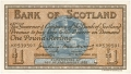 Bank Of Scotland 1 Pound Notes 1 Pound,  6.10.1955