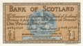 Bank Of Scotland 1 Pound Notes 1 Pound, 27. 8.1958