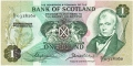 Bank Of Scotland 1 Pound Notes 1 Pound,  1.11.1972