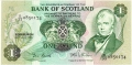 Bank Of Scotland 1 Pound Notes 1 Pound, 30. 7.1981