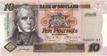 Bank Of Scotland 10 Pound Notes 10 Pounds, 18. 6.2001