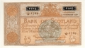 Bank Of Scotland 5 Pound Notes 5 Pounds,  3.11.1950