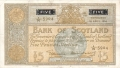 Bank Of Scotland 5 Pound Notes 5 Pounds, 10. 4.1953