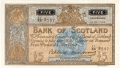 Bank Of Scotland 5 Pound Notes 5 Pounds, 17. 6.1958