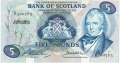 Bank Of Scotland 5 Pound Notes 5 Pounds, 10. 8.1970