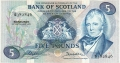 Bank Of Scotland 5 Pound Notes 5 Pounds,  4.12.1972