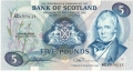 Bank Of Scotland 5 Pound Notes 5 Pounds,  4.11.1974