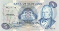 Bank Of Scotland 5 Pound Notes 5 Pounds, 28.11.1980