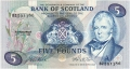 Bank Of Scotland 5 Pound Notes 5, 27. 7.1981
