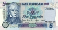 Bank Of Scotland 5 Pound Notes 5 Pounds, 13. 9.1996