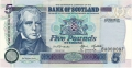 Bank Of Scotland 5 Pound Notes 5 Pounds,  5. 8.1998
