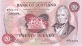Bank Of Scotland Higher Values 20, 14. 1.1977