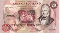 Bank Of Scotland Higher Values 20,  9. 6.1982