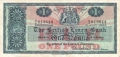 British Linen Bank 1 Pound,  1. 7.1963