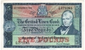 British Linen Bank 5 Pounds, 21. 9.1962