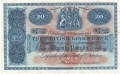 British Linen Bank 20 Pounds, 25. 6.1949
