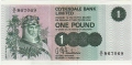 Clydesdale Bank Ltd 1963 To 1981 1 Pound,  1. 3.1971