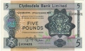 Clydesdale Bank Ltd 1963 To 1981 5 Pounds,  2. 9.1963