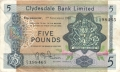 Clydesdale Bank Ltd 1963 To 1981 5 Pounds,  1. 9.1969